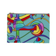 Abstract Machine Cosmetic Bag (large)