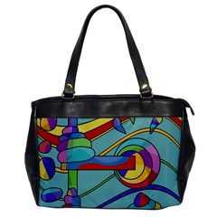 Abstract Machine Office Handbags by Valentinaart