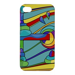 Abstract Machine Apple Iphone 4/4s Premium Hardshell Case by Valentinaart