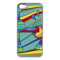 Abstract Machine Apple Iphone 5 Case (silver) by Valentinaart
