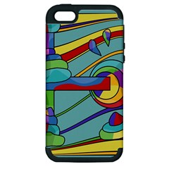 Abstract Machine Apple Iphone 5 Hardshell Case (pc+silicone)