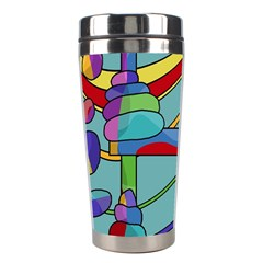 Abstract Machine Stainless Steel Travel Tumblers by Valentinaart