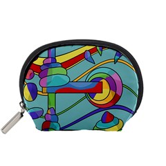 Abstract Machine Accessory Pouches (small)  by Valentinaart