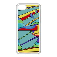 Abstract Machine Apple Iphone 7 Seamless Case (white) by Valentinaart