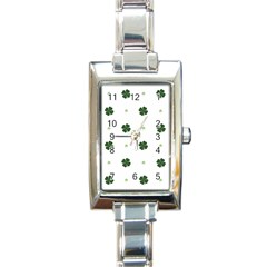 Green Leaf Rectangle Italian Charm Watch by AnjaniArt