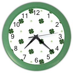 Green Leaf Color Wall Clocks by AnjaniArt