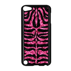 Skin2 Black Marble & Pink Marble Apple Ipod Touch 5 Case (black) by trendistuff