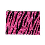 SKIN3 BLACK MARBLE & PINK MARBLE (R) Cosmetic Bag (Large) Front