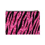 SKIN3 BLACK MARBLE & PINK MARBLE (R) Cosmetic Bag (Large) Back