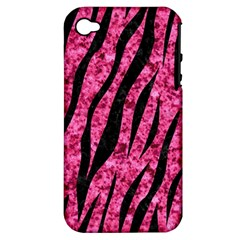 Skin3 Black Marble & Pink Marble (r) Apple Iphone 4/4s Hardshell Case (pc+silicone) by trendistuff