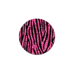 Skin4 Black Marble & Pink Marble Golf Ball Marker (10 Pack) by trendistuff