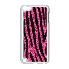 Skin4 Black Marble & Pink Marble Apple Ipod Touch 5 Case (white) by trendistuff