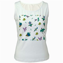 Leaf Women s White Tank Top by AnjaniArt
