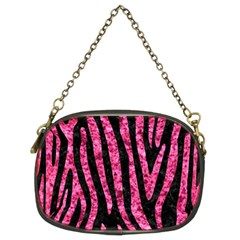 Skin4 Black Marble & Pink Marble (r) Chain Purse (two Sides) by trendistuff