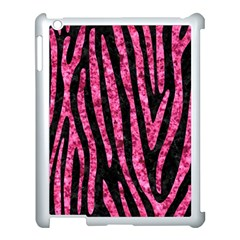 Skin4 Black Marble & Pink Marble (r) Apple Ipad 3/4 Case (white) by trendistuff