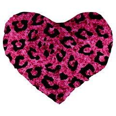 Skin5 Black Marble & Pink Marble Large 19  Premium Flano Heart Shape Cushion by trendistuff