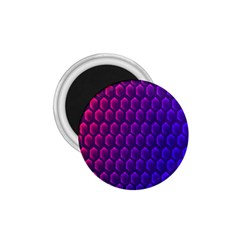 Outstanding Hexagon Blue Purple 1 75  Magnets by AnjaniArt