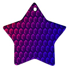 Outstanding Hexagon Blue Purple Ornament (star)  by AnjaniArt