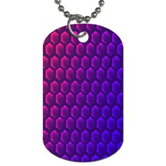 Outstanding Hexagon Blue Purple Dog Tag (two Sides) by AnjaniArt