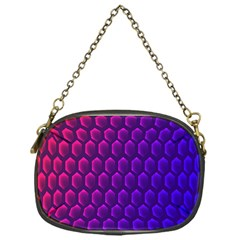 Outstanding Hexagon Blue Purple Chain Purses (one Side)  by AnjaniArt