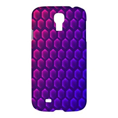 Outstanding Hexagon Blue Purple Samsung Galaxy S4 I9500/i9505 Hardshell Case by AnjaniArt