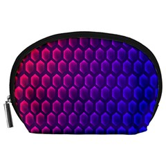 Outstanding Hexagon Blue Purple Accessory Pouches (large)
