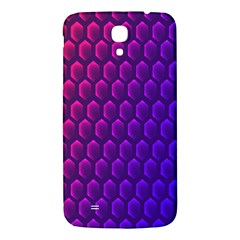 Outstanding Hexagon Blue Purple Samsung Galaxy Mega I9200 Hardshell Back Case by AnjaniArt