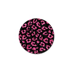 Skin5 Black Marble & Pink Marble (r) Golf Ball Marker (4 Pack) by trendistuff