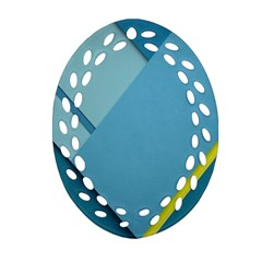 New Bok Blue Ornament (oval Filigree)