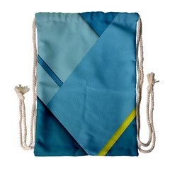 New Bok Blue Drawstring Bag (large) by AnjaniArt