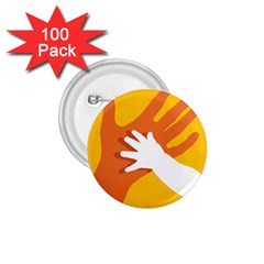 Hand Mom Soon Cute Mains Copy 1 75  Buttons (100 Pack)