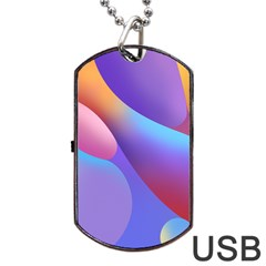 Color Orange Copy Dog Tag Usb Flash (two Sides)  by AnjaniArt