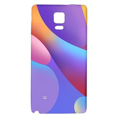 Color Orange Copy Galaxy Note 4 Back Case by AnjaniArt
