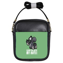 Pet Squirrel Green Nuts Girls Sling Bags by AnjaniArt
