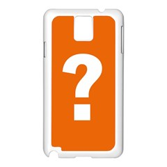 Question Mark Samsung Galaxy Note 3 N9005 Case (white)
