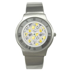 Owl Bird Yellow Animals Stainless Steel Watch
