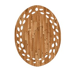 Parquet Floor Oval Filigree Ornament (2 Side)
