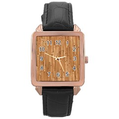 Parquet Floor Rose Gold Leather Watch