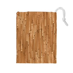Parquet Floor Drawstring Pouches (large)  by AnjaniArt