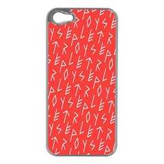 Red Alphabet Apple Iphone 5 Case (silver) by AnjaniArt