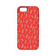 Red Alphabet Apple Iphone 5 Classic Hardshell Case (pc+silicone) by AnjaniArt