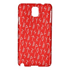 Red Alphabet Samsung Galaxy Note 3 N9005 Hardshell Case by AnjaniArt