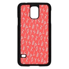 Red Alphabet Samsung Galaxy S5 Case (black) by AnjaniArt