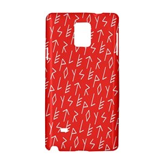 Red Alphabet Samsung Galaxy Note 4 Hardshell Case by AnjaniArt