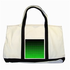 Neon Green And Black Halftone Copy Two Tone Tote Bag