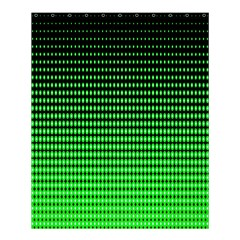 Neon Green And Black Halftone Copy Shower Curtain 60  X 72  (medium)  by AnjaniArt