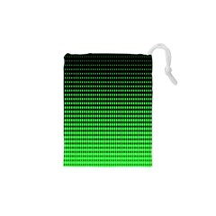Neon Green And Black Halftone Copy Drawstring Pouches (xs)