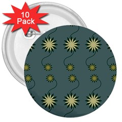 Repeat 3  Buttons (10 Pack)