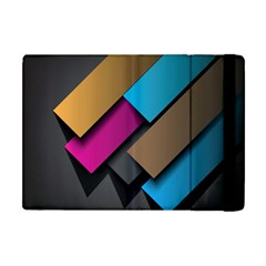 Shapes Box Brown Pink Blue Apple Ipad Mini Flip Case by AnjaniArt