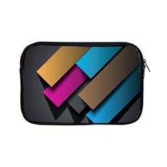 Shapes Box Brown Pink Blue Apple Ipad Mini Zipper Cases by AnjaniArt